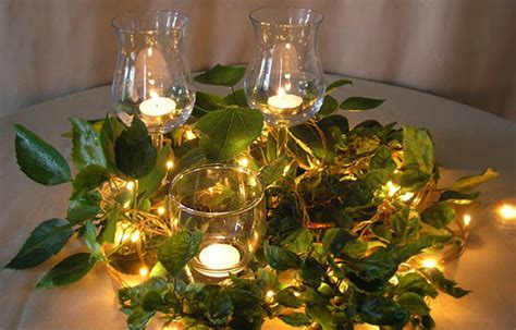 What To Put In A Clear Glass Vase Make Your Dinner Table Magical With Fairy Lights Centerpiece