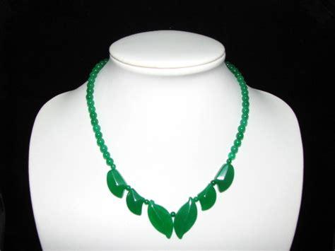 green jade leaf necklace