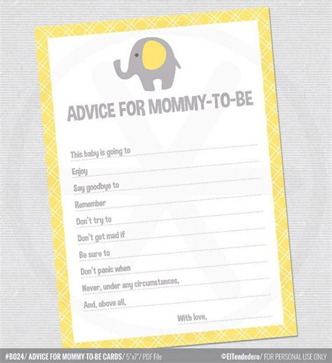 free baby advice cards template entertaining pinterest 25 best baby shower advice ideas on pinterest