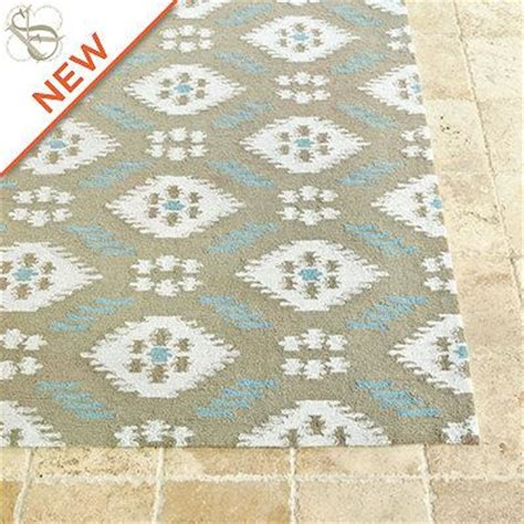 Suzanne Kasler Indoor Outdoor Ikat Rug European Inspired Ballard Designs Indoor Outdoor Rugs