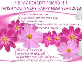 my dearest friend i wish you a happy new year inspirational quotes pictures