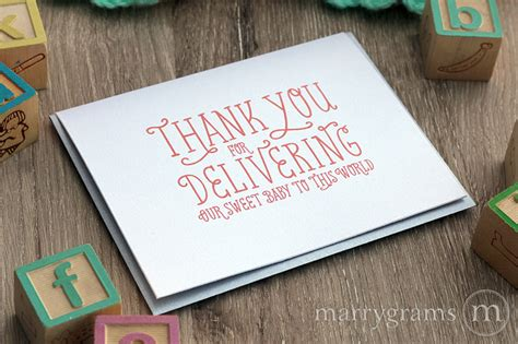 thank you letter to doctor for delivering baby thank you for delivering our baby ob gyn doctor thank you card