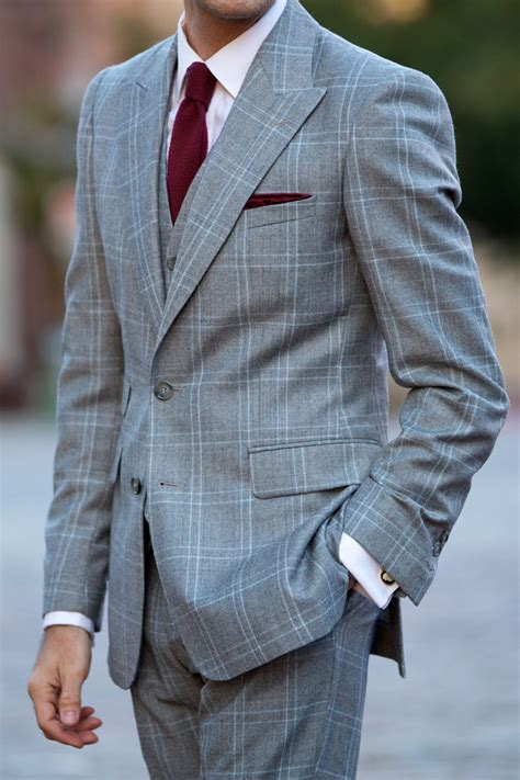 pattern shirt with dark gray suit the grey plaid three piece suit he spoke style