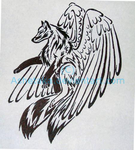 tribal wolf tattoo design by ashetaka on deviantart