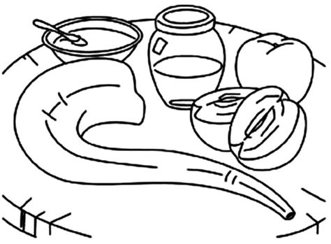 shofar coloring page search results for free new year coloring pages page 2 calendar 2015
