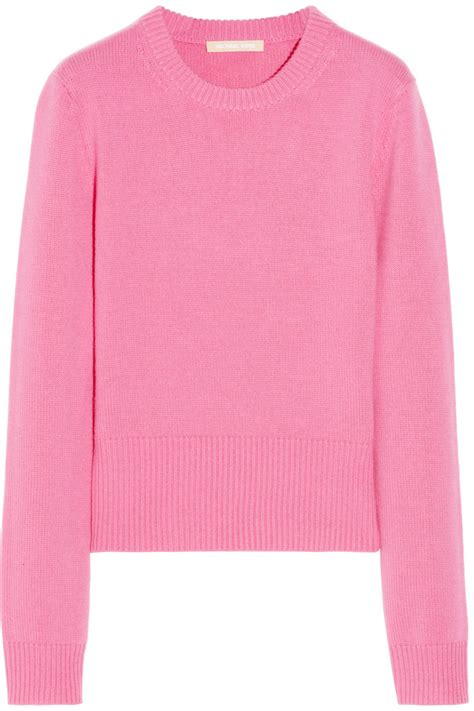 Two Color Sweater Pink lyst michael kors sweater in pink
