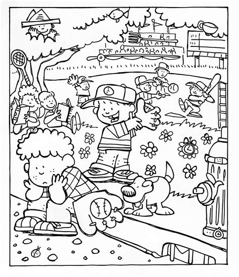 free coloring pages primary games baseball game