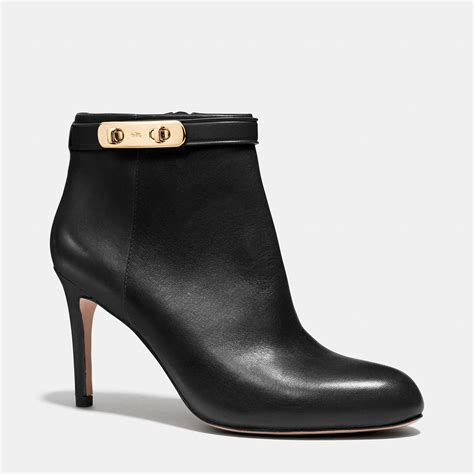 coach boots coach leather ankle boots in black lyst