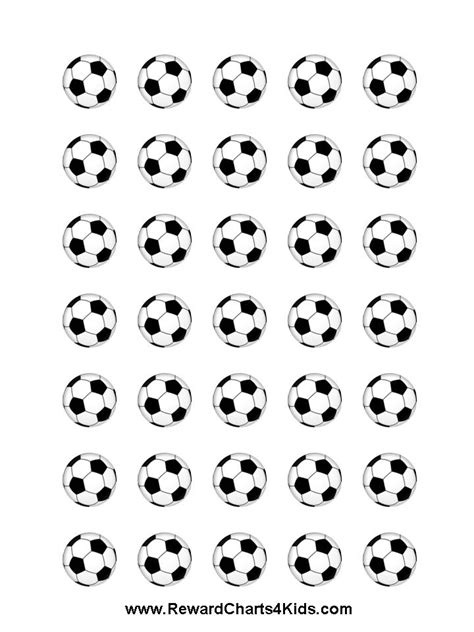 Printable Soccer Stickers | sticker chart
