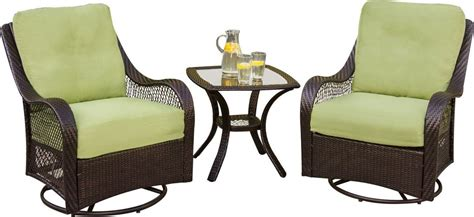 outdoor swivel glider chair hanover orleans 3 outdoor bistro set with swivel