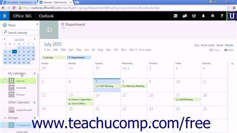 tutorial web calendar outlook web app tutorial accessing the group calendar 2015