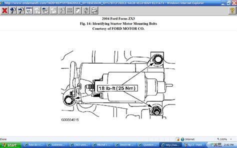 ford focus starter motor diagram efcaviation