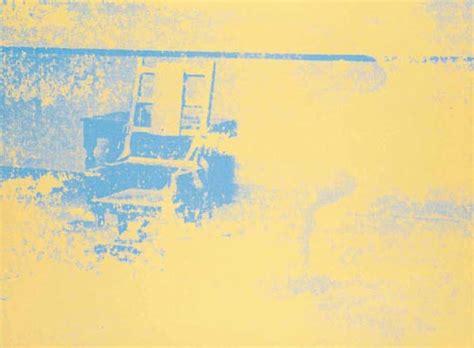 sedia elettrica andy warhol sedia elettrica olio di andy warhol 1928 1987 united