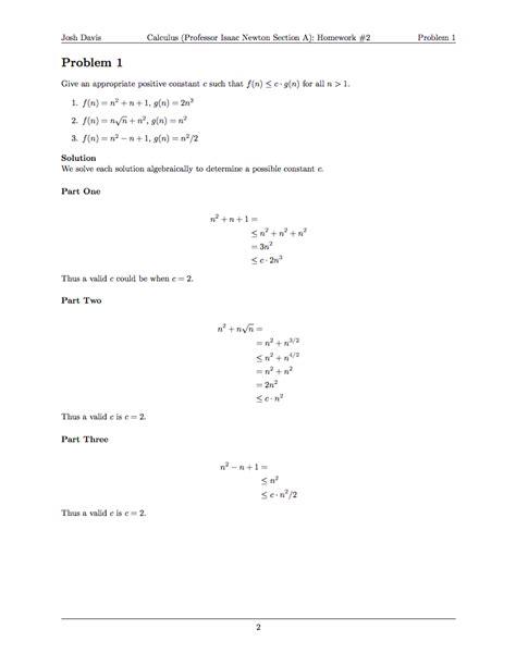 format date latex doing your homework in latex josh davis