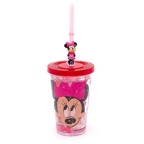 Piyama Cup Mickey minnie mouse waterfill tumbler with straw