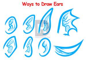 How To Draw Ear How To Draw Ears For Beginners By Darkonator Drawinghub