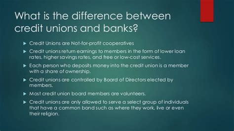 what is a credit union bank what are the differences between a bank and a credit union