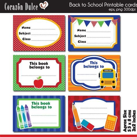 cards for schools template printable back to school cards 2 70 labels print