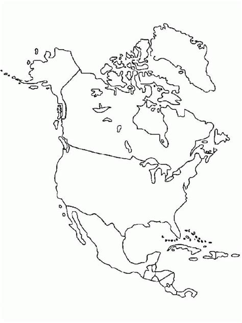 coloring page map of north america north america coloring page coloring home