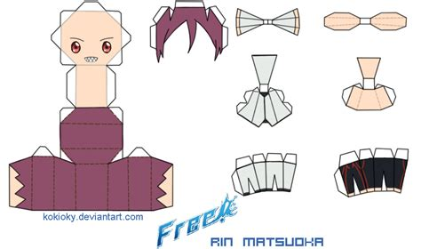 Free Papercraft Templates To - rin matsuoka free papercraft by kokioky on deviantart