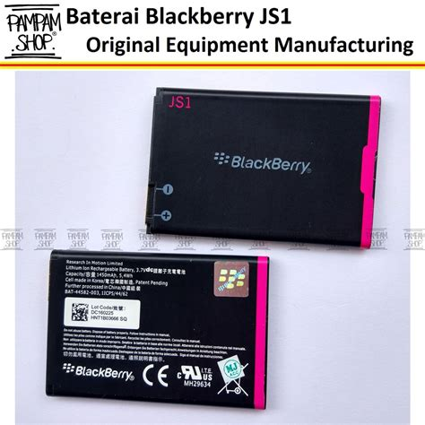 Blackberry Baterai Js 1 Original baterai blackberry js1 bb curve davis 9220 original oem
