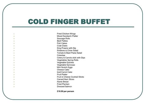 finger buffet menu ideas cold finger food ideas related keywords cold finger food