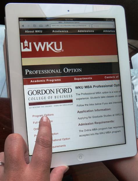 Wku Mba by Ipad2 Now Part Of Professional Mba Program At Wku Wku News