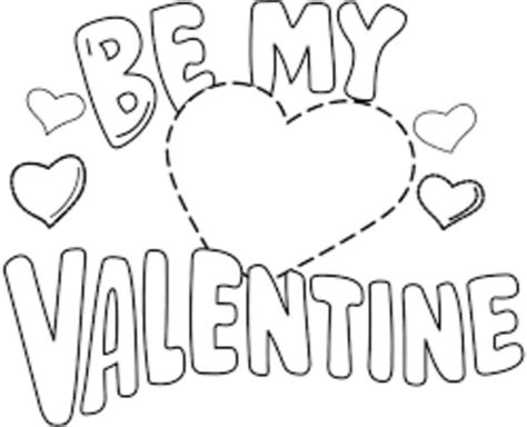be my valentine printable coloring book