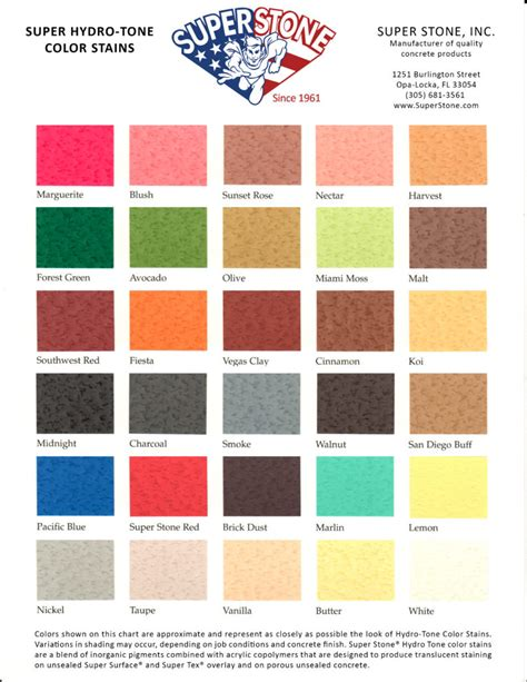 color chart color charts inc