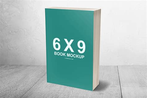 6 X 9 Mass Market Paperback 3d Book Mockup Covervault 3d Book Cover Template