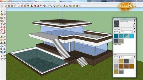 1 Modern House Design In Free Google Sketchup 8 How To Build A Modern House In