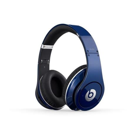 Headphone Beats Blue beats studio wired ear headphone blue discontinued by manufacturer