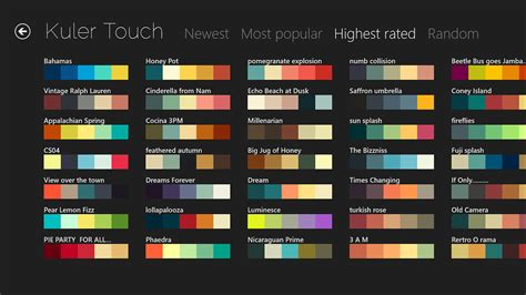 color themes kuler kuler touch rob crocombe