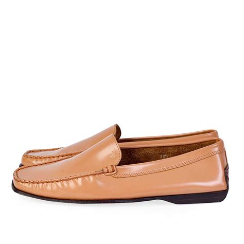 womens tods loafers tods brown leather womens loafers s 38 5 5 5 luxity