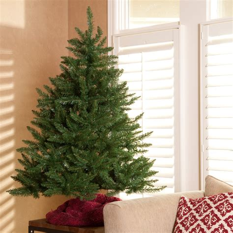 classic tabletop unlit christmas tree 4 5 ft
