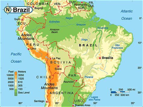 geographical map of brazil brasilien geographischen karte