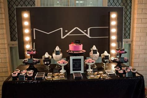 makeup themed party mac inspired makeup party by perfectly sweet lollie buffet