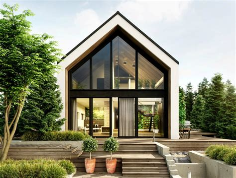 greenhouse  cabin   woods features lush