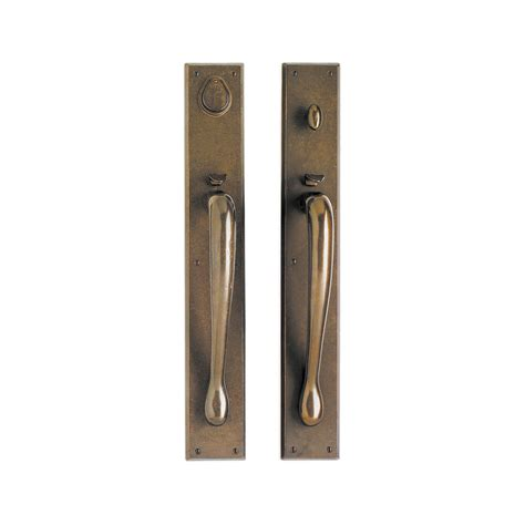 Exterior Door Lock Sets Rectangular Entry Set 3 1 2 Quot X 24 Quot Entry Thumblatch Mortise Lock G681 Rocky Mountain Hardware