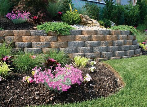 Paving Stones For Walls Garden Wall System Traditional Landscape New