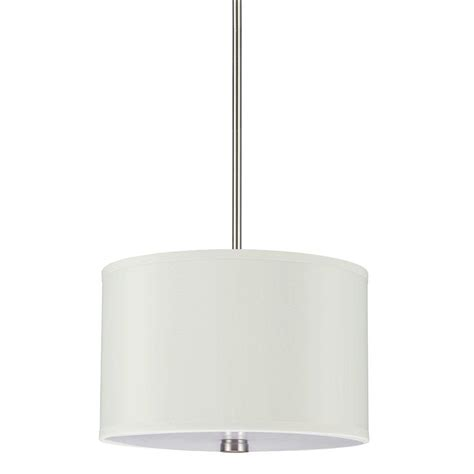 Sea Gull Lighting Dayna Collection 2 Light Brushed Nickel 2 Light Pendant Fixture
