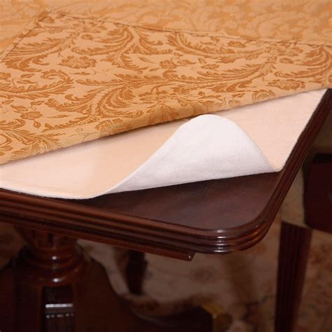 Dining Table Protective Pads Benson Mills Deluxe Heavyweight Vinyl Table Pad Bedbathhome