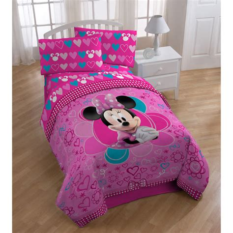 minnie mouse comforter set twin minnie mouse comforter walmart com