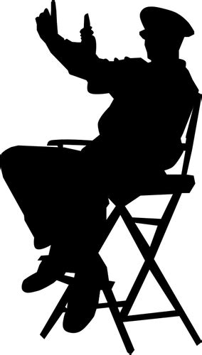 Direktur di kursi | Domain publik vektor
