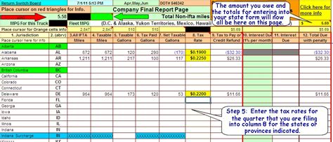 Ifta Fuel Tax Software Excel Spreadsheet For Truckers Ifta Spreadsheet Template Free