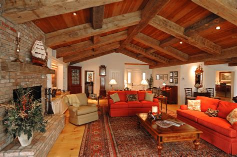 ranch home decorating ideas ranch style with decorative timbers traditional living