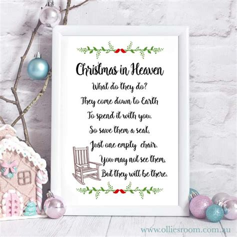 printable christmas in heaven poem christmas in heaven print christmas poem christmas