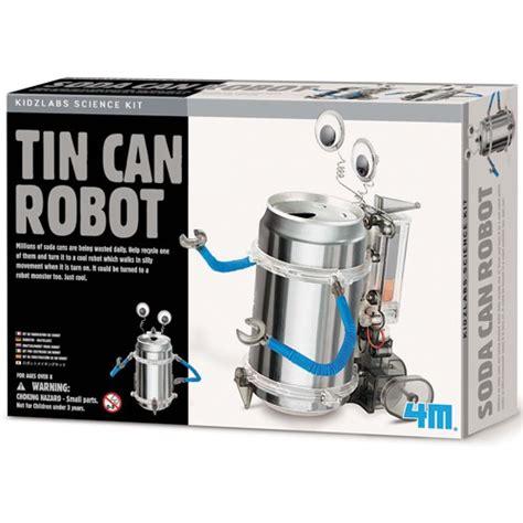 tin can robot build tin can robot green science kit educational toys
