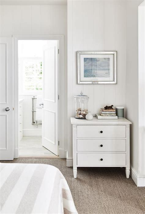 white cottage bedroom  white french chest cottage