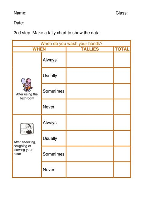 Tally Table by Worksheet 2 Tally Chart And Data 2